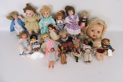 Lot of 19 Antique and Collectible Dolls.