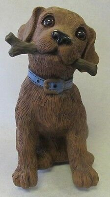 New  Nib Motion Activated Barking Dog Animal Statue Figurine Lawn Decor