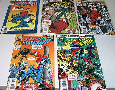 AMAZING SPIDER-MAN 383 384 385 386 ad 387  TWO COMPLETE STORY ARCS