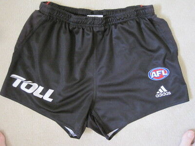 ESSENDON AFL APPROVED FOOTBALL SHORTS Sponsor TOLL by ADIDAS size Adult XL