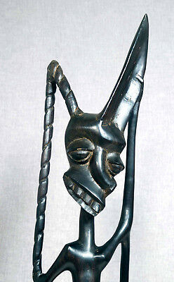 1970' Carved ebony Shetani Spirit sculpture Makonde Art Tanzania