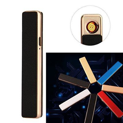 Lighter Electric USB Slim Metal Rechargeable Windproof  Arc  Lighter Gift Mini