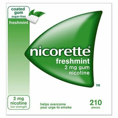 Nicorette Freshmint 2mg Gum 210 Pieces - VARIOUS PACK SIZES AVAILABLE BRAND NEW