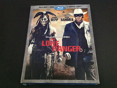 Disney The Lone Ranger  ( Blu Ray +  Dvd )  Johnny Depp  Armie Hammery