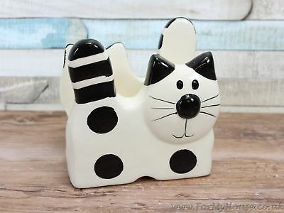 2Kewt Novelty cat cream ceramic napkin holder Letter holder rack