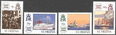 1988 St. Helena #501-4 Mint Never Hinged Set of 4 300th Anniversary Lloyd's List