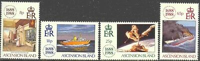 1988 Ascension #454-7 Mint Never Hinged Set of 4 300th Anniversary Lloyd's List