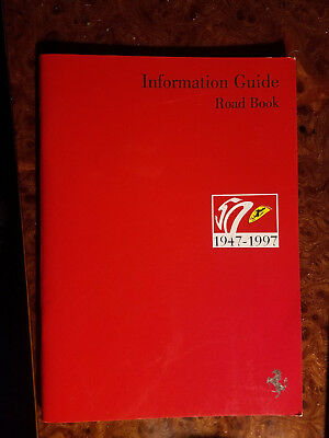 Ferrari 50th Anniversary Information Guide Road Book Brochure 1947 - 1997