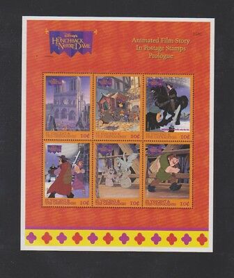 Saint Vincent Hunchback of Notre Dame Souvenir Sheet VF NH