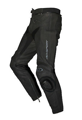 New AGVsport Willow Leather Motorcycle Pants Vented & Solid CE Armour