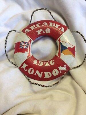 Vintage Wooden Novelty Small Life Boy Ring Arcadia P & O 1976 London Red White Y