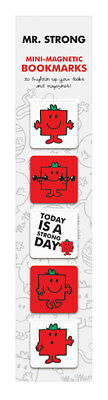 Mr. Men and Little Miss Mini-Magnetic Bookmarks - Mr. Strong