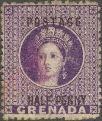 1881 Grenada #8 Mint Hinged Queen Victoria Single Surcharged Definitive