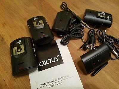 Cactus Wireless Flash Trigger V4 - 2 transmitters - 3 receivers