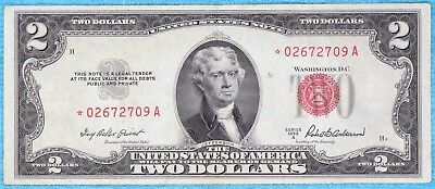 1953-A $2 Star Fr#1510* Two Dollar Bill Red Seal US Note Lot #17