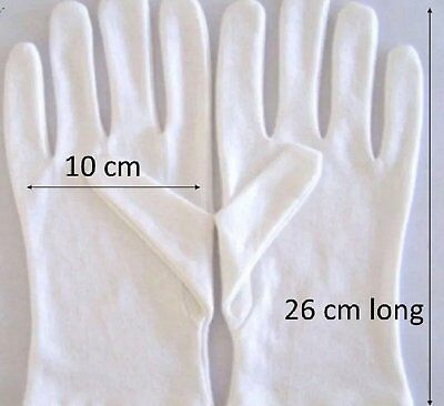 4 pairs - 8 gloves COTTON GLOVES  - 26 cm long