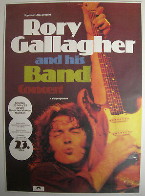 Rory Gallagher Concert Tour Poster 1975 Against The Grain