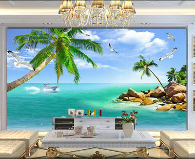Plausible Sober Sea 3D Full Wall Mural Photo Wallpaper Printing Home Kids Decor