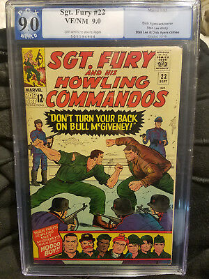 Sgt. Fury & his Howling Commandos #22 9.0 Graded unread stock Large run for sale