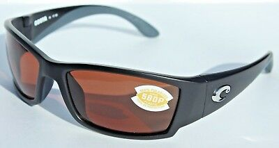 8103b3559bdeb COSTA DEL MAR Corbina 580 POLARIZED Sunglasses Black Copper 580P NEW  169