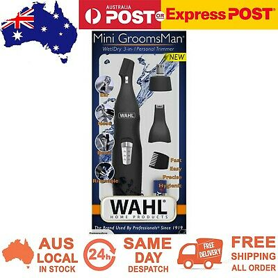 Wahl Mini Groomsman Wet/Dry 3-in-1 Personal Trimmer Nose Ear Eyebrow Brow Hair