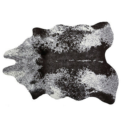 Faux Cow Hide Rug/Dark Grey Modern Cabin Cow Skin Country Decor Animal Friendly
