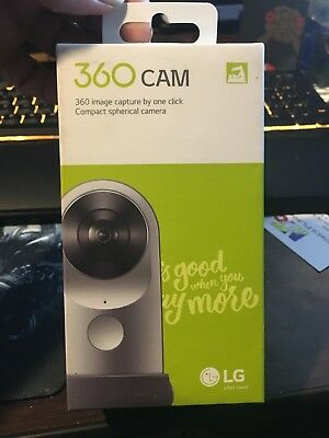 LG 360 CAM Spherical Camera Wide-Angle 2K Video Silver NEW Sealed