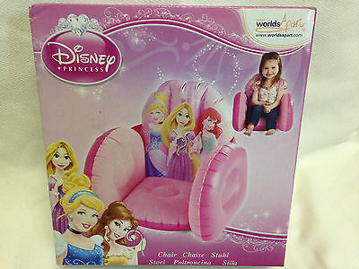 Brand New Disney Princess Inflatable Chair Seat Child Girl Kids Pink Play