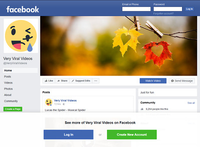 👍 Facebook Fan Page + Domain. 1.1m Reach, 165k Engagements. Very Viral Videos.