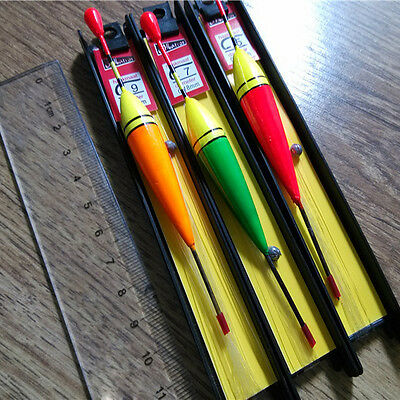 Durable 3 Pieces Assorted Course Carp Fishing Float Tackle Set & Wood/Nylon