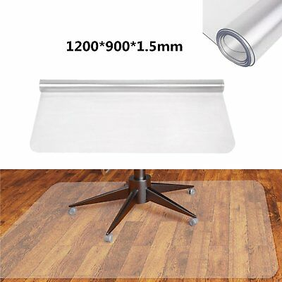 1200*900mm Non Slip Office Chair Desk Mat Floor Carpet Protector PVC Frosted UK