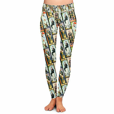 Haunted Mansion Stretch Paintings Yoga Leggings