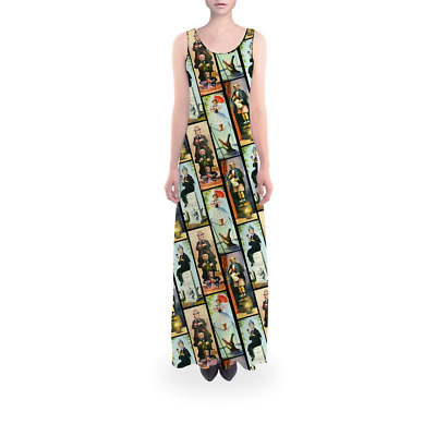 Haunted Mansion Stretch Paintings Flared Maxi Dress