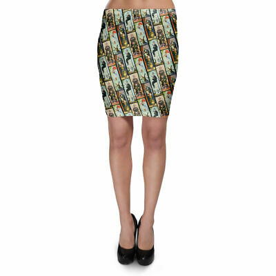 Haunted Mansion Stretch Paintings Bodycon Skirt