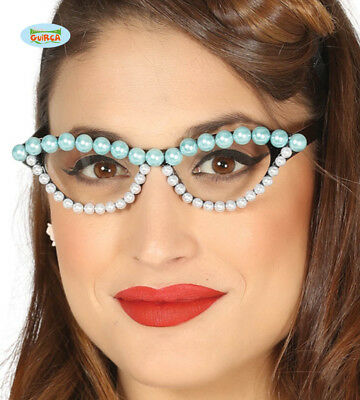 1950s Glasses With Faux Pearl Design
