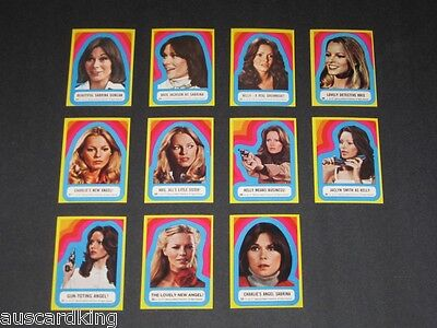 Charlie's Angels - Series 3 - Sticker Complete Card Set (11) - 1977 Topps - NM