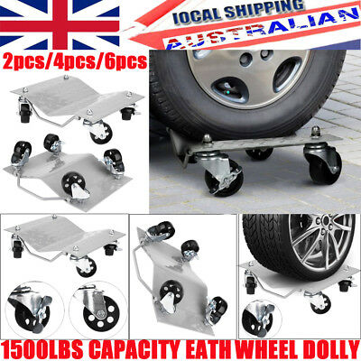 2pcs Wheel Dolly PU Castors Vehicle Positioning Jack 1500Lbs Car TIRE MOVING Kit