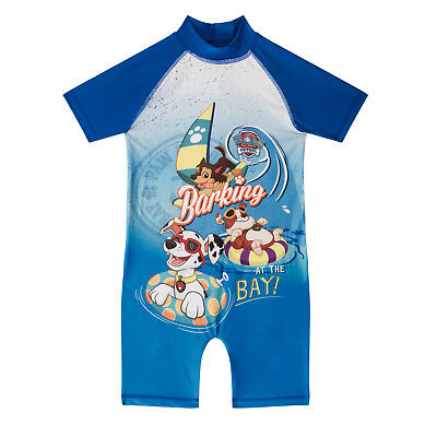 PAW Patrol Rubble Chase Marshall Official Gift Toddler Boys Kids Swim Surf Suit