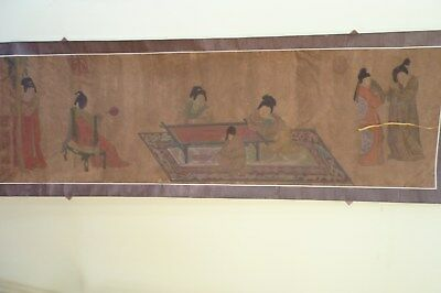 Antique/Vintage Chinese Scroll Watercolour Signed Seal Mark's.