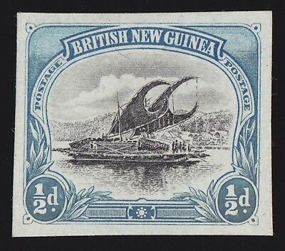 PAPUA 1901 BNG Lakatoi ½d Imperf PROOF PHOTO CERTIFICATE EXTREMELY RARE!