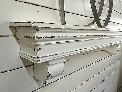 French Country Mantle Shelf, Large Mantle shelf, Arch Mantle with Corbels, 48 in