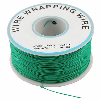 1000Ft Circuit Board JTAG Tin-Plated Copper Wire 0.25mm 30AWG Green