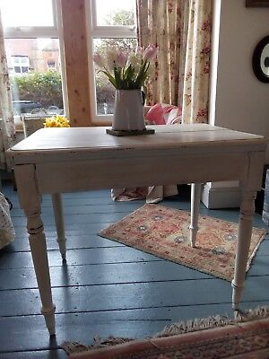 Shabby Chic Painted Victorian Turned Leg Table