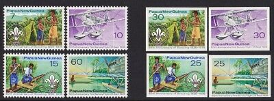 PAPUA NEW GUINEA 1976 Scouting & Flight set UNISSUED IMPERF PROOF EXTREMELY RARE