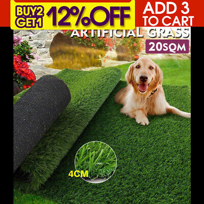 20 SQM Synthetic Turf Artificial Grass Plastic Plant Fake Lawn Flooring