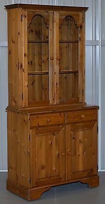 1 Of 2 Hand Made In England Ducal Glass Shelved Welsh Dressers Bookcases Pine