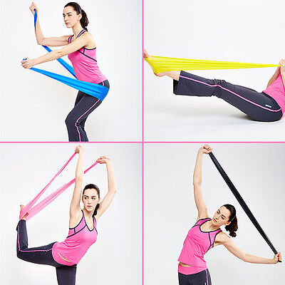 Resistance Stretch Loop Band Gym Yoga Fitness Exercise Elastic Rubber Rope Strap