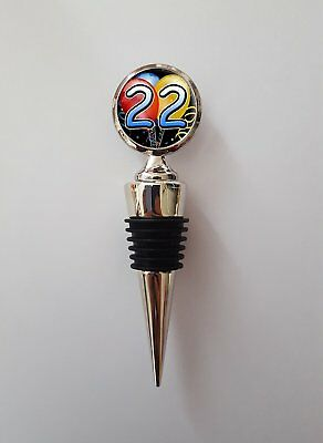 22nd Birthday Polished Metal Wine Bottle Stopper Gift N424