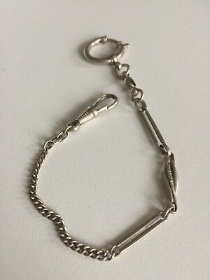 Metal Detecting Find Antique Silver Nickel Albert Watch Chain Bracelet Albertina