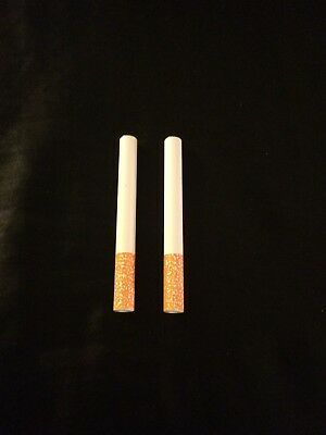 """USA Seller (2) 3"""" Cigarette Pipes One Hitter Tobacco Smoking Dugout Metal Bats"""